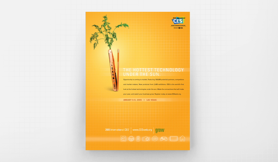 """CES Carrot Ad from the """"Grow"""" Campaign"""