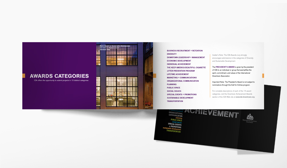 IDA Annual Conference Marketing On-site Awards Brochure