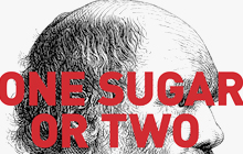 "This is a thumbnail of Darwin with the question ""One sugar or two for your coffee sir?"""