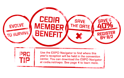 CEDIA Expo 2013 Campaign Brand Element — Stamps