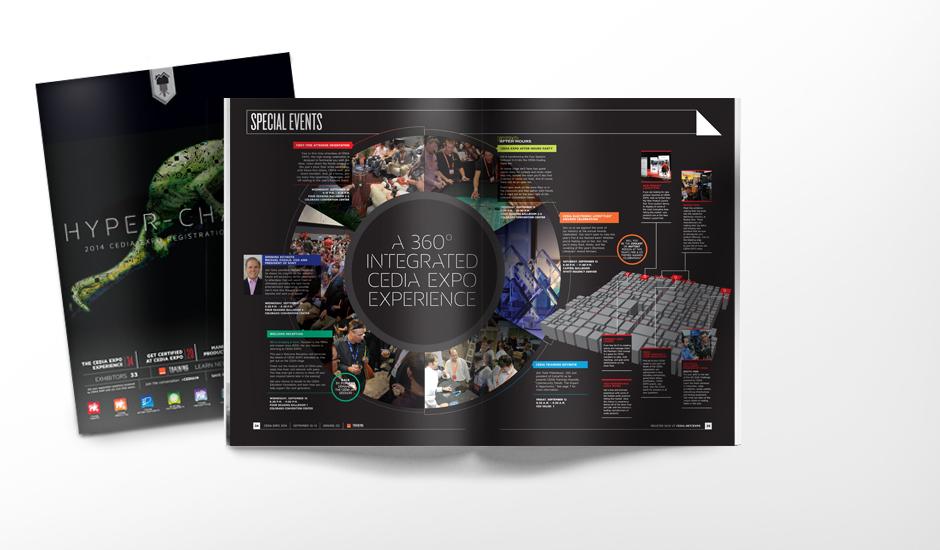 CEDIA Registration Brochure spread