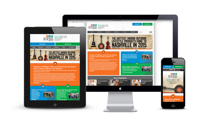 HPBExpo 2015 website redesign